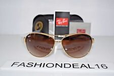 New Ray-Ban Authentic Aviator Gold Havana RB3386 001/13 67mm Rayban Sunglasses