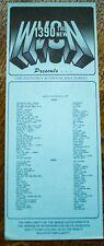 WVON Chicago Radio Survey Music Chart August 25-31 1978 Funkadelics Stargard