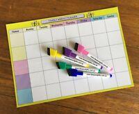 A4 Organiser +5pen Monthly Weekly Family Office Planner Fridge Whiteboard Magnet