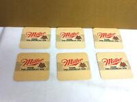 Miller beer coaster bar coasters 6 Made The American Way Milwaukee Wisconsin AE9