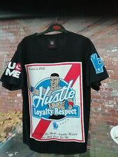 2015 WW AUTHENTIC JOHN CENA 'HLR NEVER GIVE UP' BLACK WRESTLING T-SHIRT YOUTH?