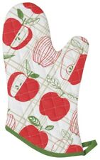 NOW DESIGNS Oven Mitt Mitts APPLES APPLE COLLECTION NWT 100% Cotton RED WHITE