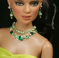 """Rhinestone Necklace and Earring Jewelry Set for 16"""" Tonner Tyler doll 010B"""
