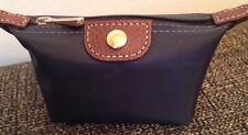 Longchamp Le Pliage Zip Coin Purse, Slate, Grey, New, Authentic