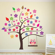 Owl Tree Flower Wall Sticker WS-41324