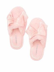 Victoria's Secret Velvet Bow Slipper flip flop Red Licorice S M L 5 6 7 8 9 10