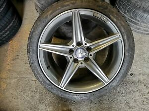 Mercedes  18inch alloy wheels with Nearly New RUNFLAT Tyres