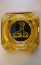Palace Club Glass Amber Ashtray  Oldest Casino in Reno, Nevada    Vintage