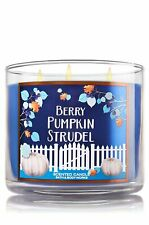 Bath & Body Works 3 Wick Scented Candle | Berry Pumpkin Strudel