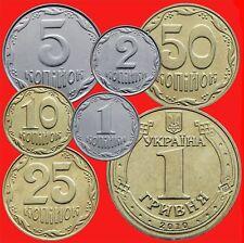 2010 Ukraine Coin Set -1 2 5 10 25 50 Kopiyok and 1 hryvnia. Rare.