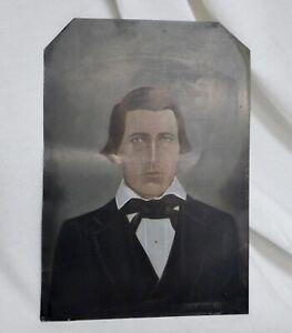 Primitive Folk Art Hand Painted Portrait of Man - 83551