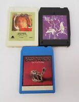 Barry Manilow 8 Track Tapes Set of 3 Tryin To Get The Feeling This One's For You
