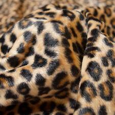 Meterware Fellimitat Kunstfell Webpelz Leopard Tierfell