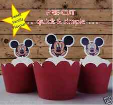 Mickey Mouse face edible wafer cupcake cake toppers birthday PRE-CUT