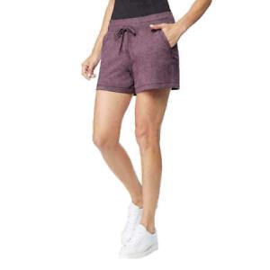 32 Degrees COOL Womens Pull-On Sweat Shorts Lounge Stretch Purple Medium