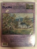 Bucilla Counted Cross Stitch Kit #42761 Countryside White Church NEW Sealed