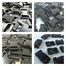 """Plastique noir Delrin 3 Bar Diapositives Boucles pour webbimg 15 mm /""""D/"""" 10pcs"""