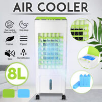 8L Evaporative Cool Fan Ice Cooler Air Conditioner Purifier Humidifier Home 220V