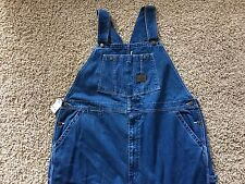 WORK N SPORT Stonewashed Cotton Denim Jean Overall Bib Medium Mens Sz 48x32 NEW
