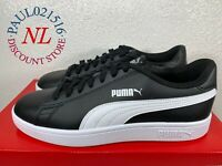 USED PUMA Smash V2 Leather Perf Sneakers Men's Shoes ~ Black ~ Various Sizes ! !