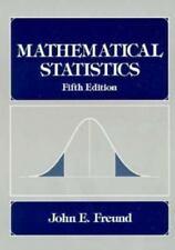 Mathematical Statistics by John E. Freund and Ronald E. Walpole (1992, Hardcover