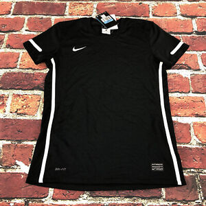 WOMENS Medium NIKE FIT Dry JERSEY shirt top Black mesh breathable vented running