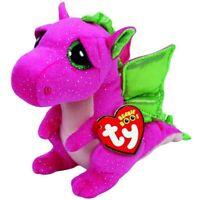 "TY Beanie Boos Regular 9"" - Darla the pink Dragon Plush"