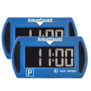 2x Needit Park Mini blau elektronische Parkscheibe digitale Parkuhr m. Zulassung