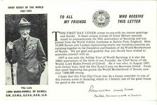 Carte FIRST DAY COVER jamboree 1957 Sutton park BADEN POWELL Scout