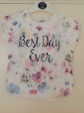 Gorgeous Mock Lace/ Flowery Pattern ' Best Day Ever' Top Age 3