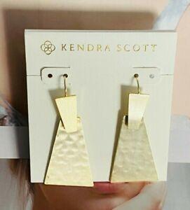 Kendra Scott Sophee Drop Golden Earrings &Free Shipping