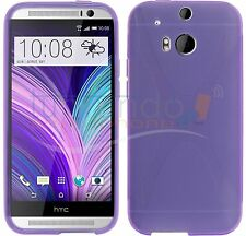 FUNDA de GEL TPU MORADA para HTC ONE 2 M8 en ESPAÑA CARCASA
