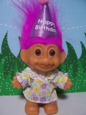 "Rare HAPPY BIRTHDAY GIRL - 3"" Russ Troll Doll - NEW IN ORIGINAL WRAPPER"