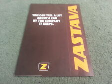 1981 ZASTAVA Yugo UK CORPORATE BROCHURE 1100 1300 ZLM ZLC ZLX 3 &5 DOOR BROCHURE