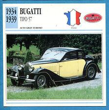 SCHEDA TECNICA AUTO DA COLLEZIONE - BUGATTI TIPO 57 1934-1939