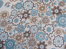 LIBERTY TANA LAWN COTTON  1.00 MTR of LAUREN in BLUE/BROWN