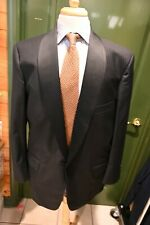Tom James Insane Shawl Collar Black Tuxedo 3 Piece Suit Size 46R