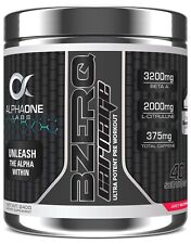 ALPHA ONE LABS - BZERQ BLACK CARNAGE NEW Pre Workout GRAPE BURST 40s