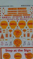 Decals Model Trains Shell Oil Service Station Signs N MicroScale #60993