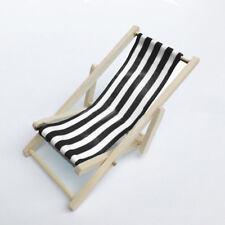 House Doll Chair Miniature Bed Toys Mini Beach Dollhouse Decorations 1/12 Great
