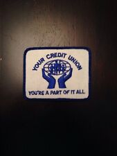 "Credit Union Sew On Patch 3.5"" Banking Financial"