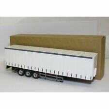 Oxford Diecast 1:50 CR027 Cararama Modern 3 Axle Curtainside Trailer White