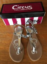 8d0028481 NEW Circus by Sam Edelman Cayden Girls Thong Sandals Silver Size 1