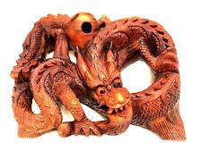 "Dragon 16"" Hand Carved Wood Bali Statue Sculpture Figurine Art Home Decor Wood"