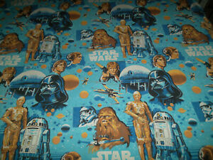 Bibb Vintage Star Wars Twin Size Flat Sheet Made In The USA Darth Vader Chewbaca