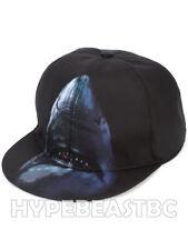 GIVENCHY Hat Shark Print Canvas Baseball Cap Mens One Size Adjustable Blue Black