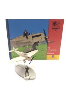 On a Plane Tintin L'Aircraft Beige Of Faux-Monnayeurs Island Black N° 18 + Book