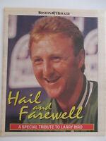 LARRY BIRD HAIL AND FAREWELL BOSTON HERALD NEWSPAPER SPECIAL INSERT 1992 CELTICS