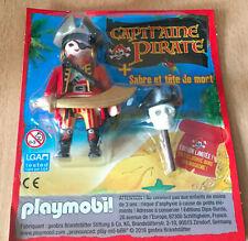 FIGURINE PLAYMO PLAYMOBIL NEUF THEME PIRATE : LE CAPITAINE AVEC CRANE ET SABRE