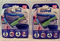 WONDER CLIPPER THE LIGHT UP NAIL CLIPPER 2 PACK BUILT IN NAIL HEAD SWIVELS NEW!